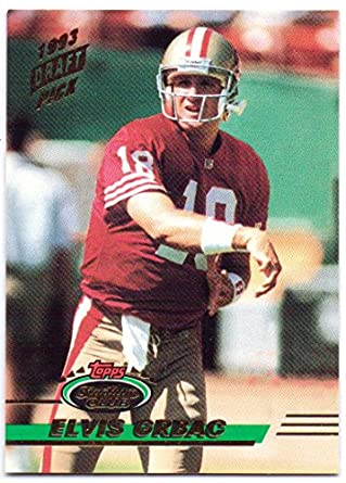 Elvis Grbac 1993 Stadium Club Rookie  519 - San Francisco 49ers at ... cd9e05a3f
