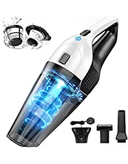 Handheld Vacuum Cleaner Cordless, Portable Lightweight Hand Vacuum, HEPA Dual Filtration, Rechargeable 2200mAH Li-ion Battery, 3H Quick Charge, 30Min Long Runtime for Home Car Pet Hair Deep Cleaning
