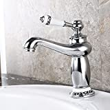 Furesnts Modern home kitchen and Bathroom Sink Taps Optimized for power amplifier tap, the Magic Lamp retro Taps fine Bathroom Sink Taps,(Standard G 1/2 universal hose ports)