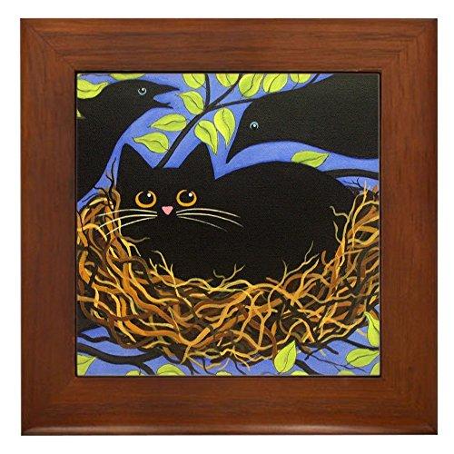 CafePress - Black CAT in Crow