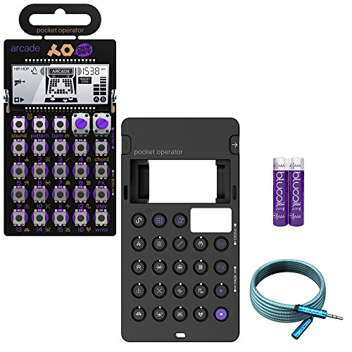 Teenage Engineering PO-20 Arcade Synthesizer and Sequencer - BUNDLED WITH - CA-20 Silicone Case, Blucoil 6-Ft Extension Cable AND 2-Pack of AAA Batteries -