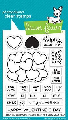 - Lawn Fawn Lf1553 How You Bean? Conversation Heart Add-on Clear Stamp Set