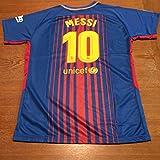 New Season Barcelona Messi 10 2017/2018 Home Soccer Jersey For Men Color Blue Size M