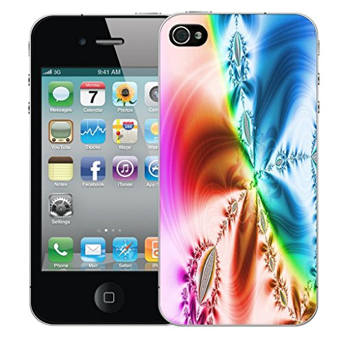 Mobile Case Mate iPhone 4 Silicone Coque couverture case cover Pare-chocs + STYLET - Fashion pattern (SILICON)