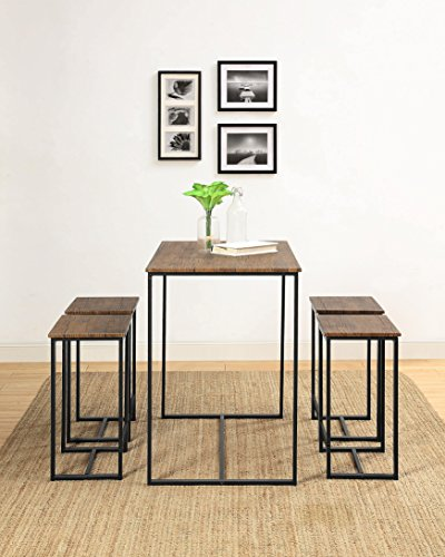 Abington Lane Kitchen Table Set - Versatile, Tall, Modern Table Set for Any Room or Occasion (4 Stools) by Abington Lane (Image #3)