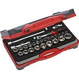 """SAM Outillage 75-SH28Z Coffret de douilles/accessoires 1/2"""" 27 Outils de 8 à 32 mm"""