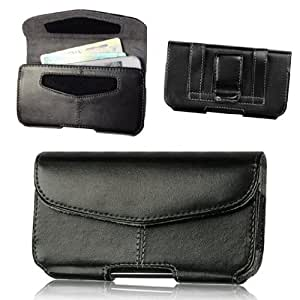 Amazon Com For Apple Iphone 5s 5c 5 Leather Wallet Pouch Velcro Case Belt Clip Loop Holster W