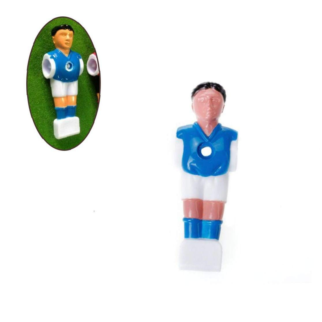 Blue Table Football Man Replacement Part 1.4m Table Football Multi Usage Plastic Desk Soccer Player