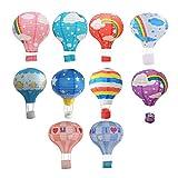 10 PCS Rainbow Balloon Paper Lantern Wishing Lanterns Birthday Wedding Party Decoration (Style 2)