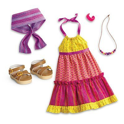 American Girl - Beforever Julie - Julie's Mix-Print Maxi Dress for Dolls