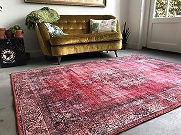 Amazon De Rozenkelim Teppich Vintage Rot Orientteppich Flur
