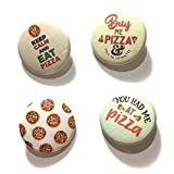 12 pcs set Pizza pinback DIAMETER 1.5'' or 2.25'' buttons for birthday party favors collectible flair pin
