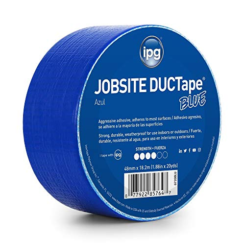 Blue Duct Tape (IPG JobSite DUCTape, Colored Duct Tape, 1.88