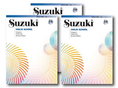 (Suzuki Violin School, Violin Part, With Piano Accompaniment CD - 3 Books with CDs Set - Includes Volume 1, Volume 2 and Volume 3)