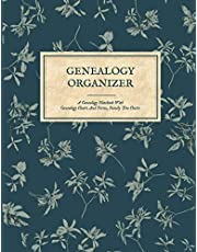Genealogy Organizer - A Genealogy Notebook With Genealogy Charts And Forms, Family Tree Chart Book: Genealogy Gift For Family History Buff & Genealogists; Family Tree Book You Fill In; 5 Generation Genealogy Pedigree Charts; Ancestry Workbook Journal