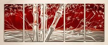 Modern Abstract Metal Wall Art Painting Decor Sculpture Bamboo Tree  sc 1 st  Amazon.com & Amazon.com: Modern Abstract Metal Wall Art Painting Decor Sculpture ...