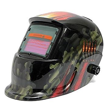 AUDEW Solar Soldador Máscara Careta Racing Track camuflaje oscurecimiento casco casco de soldar: Amazon.es: Coche y moto