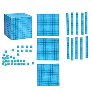 Learning Resources - Bloques aritméticos educativos (magnéticos, base diez, 121 piezas)