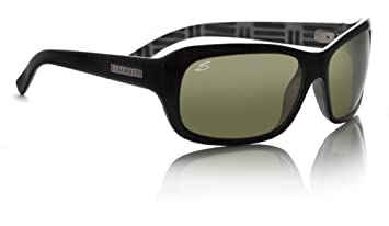 c0d7033a0c77 Serengeti 7177 Black Vittoria Rectangle Sunglasses Polarised Driving ...
