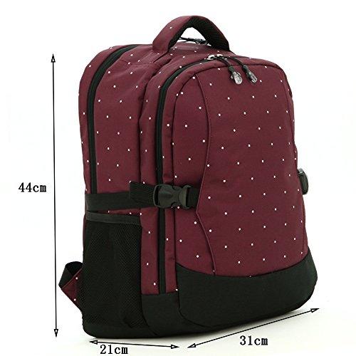 Global- 31 * 21 * 44cm de la manera esencial de viaje Freaky multifunción mochila, poliéster de gran capacidad paquete de la momia, mujeres embarazadas multifunción Salir mochila ( Color : # 3 ) # 3