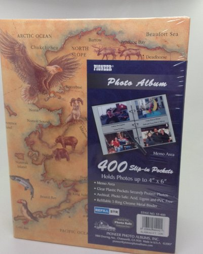 Alaska State Map Photo Album 400 3 Ring Binder Refillable Pioneer
