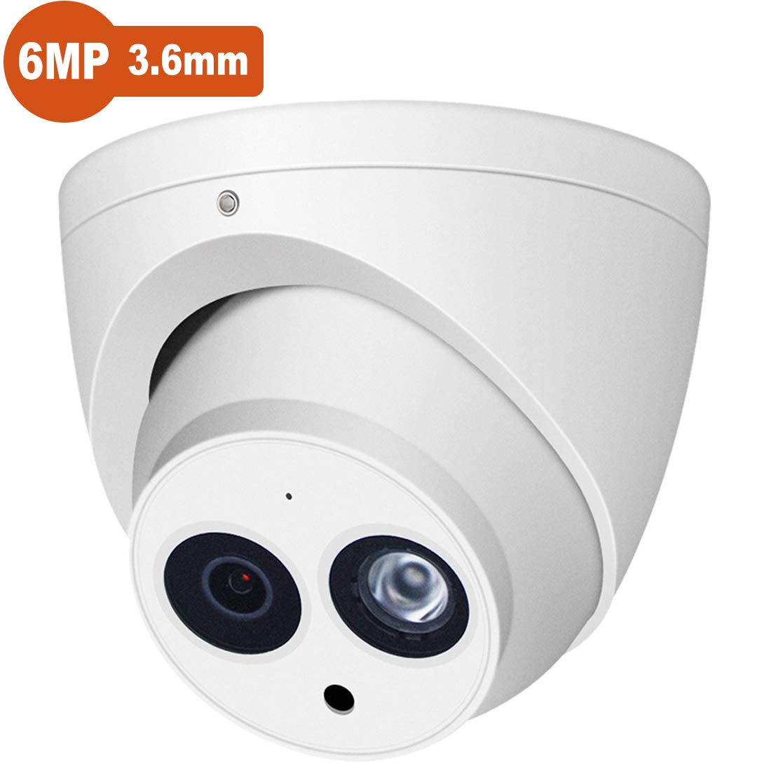 6MP PoE Outdoor IP Camera, IPC-HDW4631C-A 3.6mm Lens, Dome EXIR Turret Security Network Surveillance Camera, Up to 98ft 30m Night Vision, H.265, IP67, ONVIF