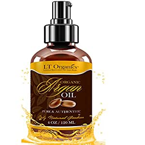 Triple Virgin Organic Argan Oil by LT Organics - Best For Hair Growth, Skin, Face & Nails - 100% Pure Unscented Moisturizer & Conditioner - 4oz Argan Oil Spray For Face