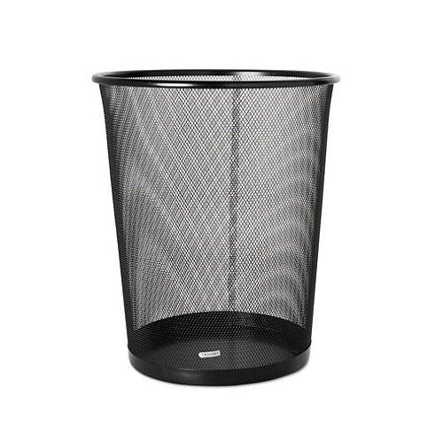Rolodex Mesh Round Wastebasket, 11-1/2 Diameter x 14-1/4 H, Black (22351) (3, Black) -