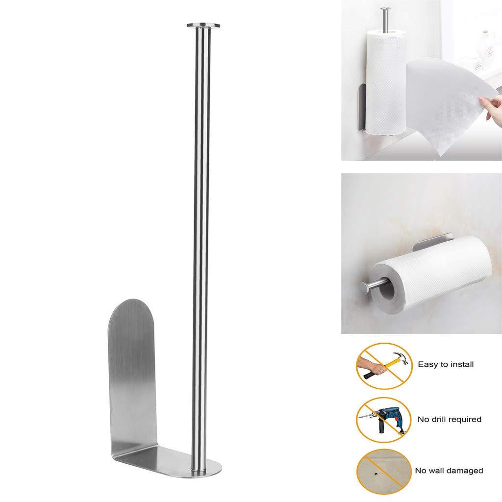 Paper Holder, LtrottedJ Vertical Diversified Paper Towel Holder Wall Mount Paper Holder Storage Rack