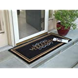 "Printed Coco Coir Doormat Elegant Welcome Design 22"" X 47"""
