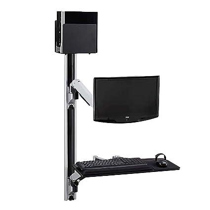Cablematic - Soporte de pantalla teclado ratón ordenador de pared con brazo articulado doble