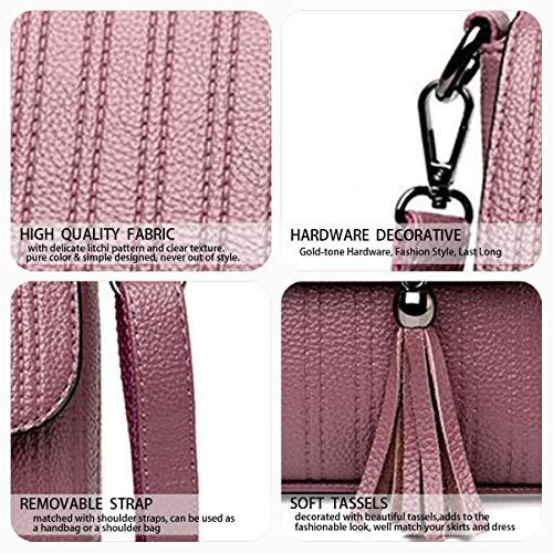bandolera Shoppers Mujer Taro hombro clutches Bolsos DEERWORD Morado y mano de bolsos Carteras de y 50dWWAwq