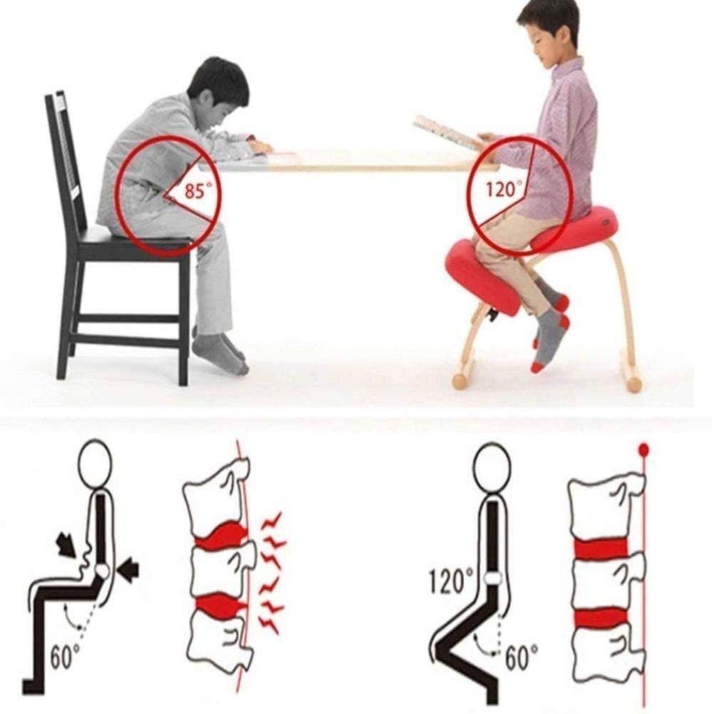 Justerbar ergonomisk kontorsstol tyg student anti-fusk knästolar korrigerande hållningsstol ortopedisk pall lindrar knästol (färg: 4) 6