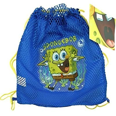 Ruz Nickelodeon Sponge Bob Sling Tote Bag Net Front with PVC Character: Toys & Games