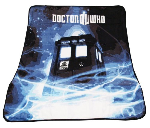"Doctor Who Throw Blanket - TARDIS Gallifrey Fleece - 50"" x 60"" Afghan"