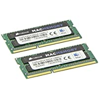 Corsair CMSA8GX3M2A1066C7 Apple 8 GB Kit de doble canal DDR3 1066 (PC3 8500) 204-Pin DDR3 Memoria SO-DIMM para portátil 1.5V