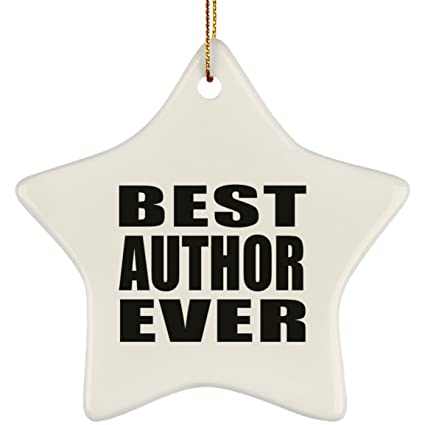 Amazon Com Designsify Best Author Ever Star Ornament Christmas