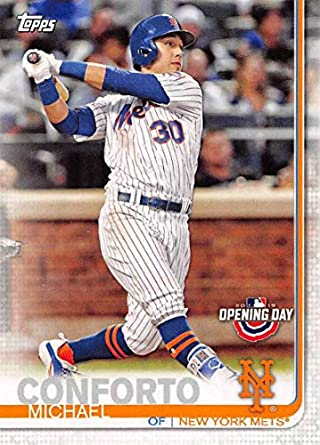 99049a604 2019 Topps Opening Day  189 Michael Conforto New York Mets Baseball Card