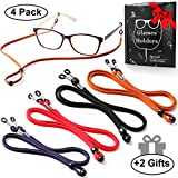 bfacf9f79e7 Eyeglasses Holder Strap Cord - Premium ECO Leather Eyeglasses String Holder  Chain Necklace - Glasses Cord