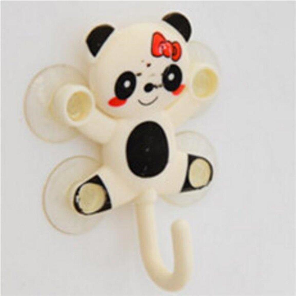 Heelinna multifunzione Ganci per bagno Gancio per panda Cartoon Gancio adesivo per gancio a parete con ventosa