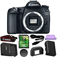 Canon EOS 70D 20.2 MP Digital SLR DSLR Camera Body Only with Dual Pixel CMOS AF Full HD 1080p Video