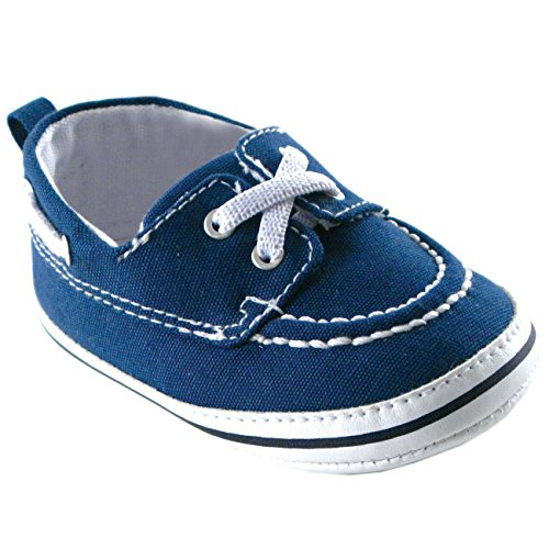 Luvable Friends Boy's Slip-on Shoe (Infant), Navy, 0-6 Months M US Infant ()