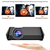 LiPing Vivicine V8 Mini Portable Projector LED Synchronization Display More Stable than WI-FI Beamer Projector Wired For Home Cinema Movie (A)