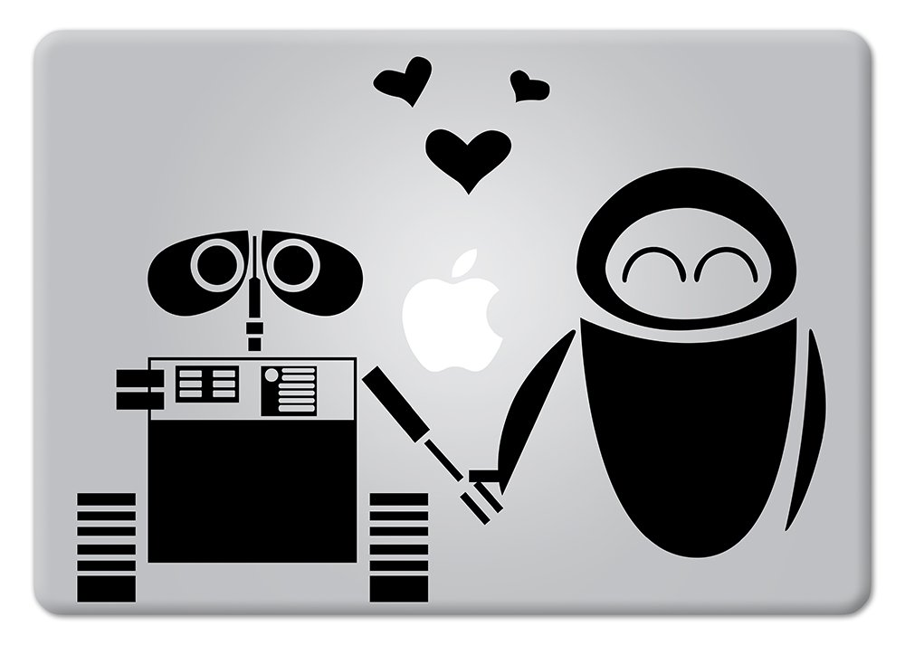 Wall-E & Eve Disney Apple Macbook Decal Vinyl Sticker Apple Mac Air Pro Retina Laptop sticker