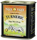 Tiger Tiger Indian Spices, Ground Turmeric, 4.4-Ounce Tins (Pack of 6)