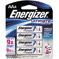 Lithium Batteries, AA, 4/Pack, Sold as 2 Package
