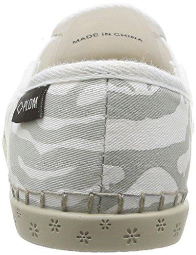 off Da zebra Donna grau Grigio Bora Gris Palson White Espadrillas fq488O