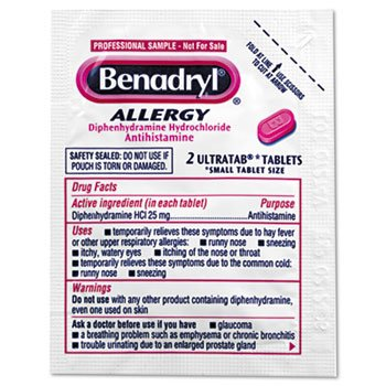 Benadryl Allergy Ultratabs, 60 Two-Packs/Box