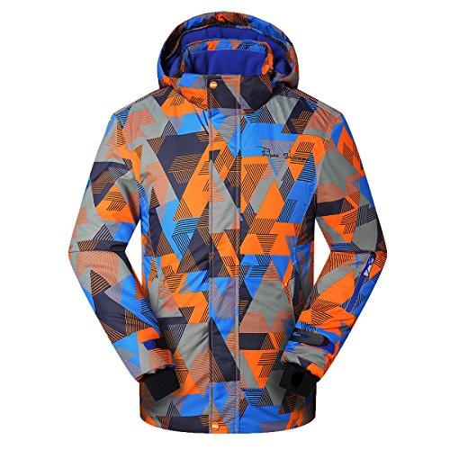 Phibee Big Boy's Waterproof Breathable Snowboard Ski Jacket (Multi, 12)