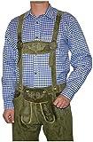 Dirndl Trachten Haus German Blue Lederhosen Longsleeve/Shortsleeve Shirt (X-Large)